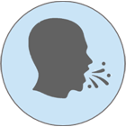 Coughing person icon
